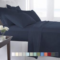 Pizuna Cotton 400 Thread Count Solid Dark Blue